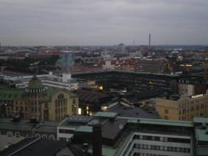 view over Helsinki from a very expensive rooftop bar my finnish friend took me to
