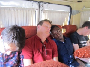 The back seat boys enjoying some sleep