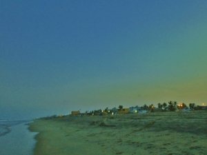 Sunset on Chennai Beach