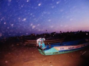 Boats on Chennai Beach