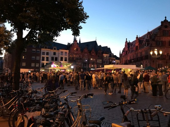Downtown Nijmegen on a Friday evening – a very social city!
