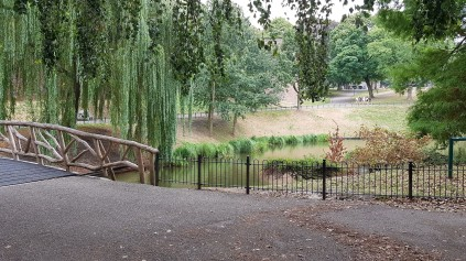 A park in downtown Nijmegen – the city is very green and environmentally-friendly