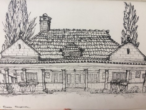 A sketch of the Karen Blixen museum