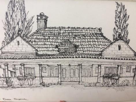 A sketch of the Karen Blixen museum