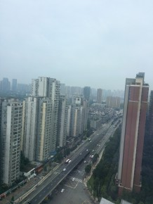 This was the view from the British Chamber office over Chengdu