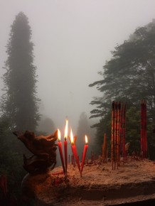 This is from the top of Mount Qingcheng – was not much of a view due to the fog but very peaceful and serene. Mount Qingcheng is the birthplace of Daoism.