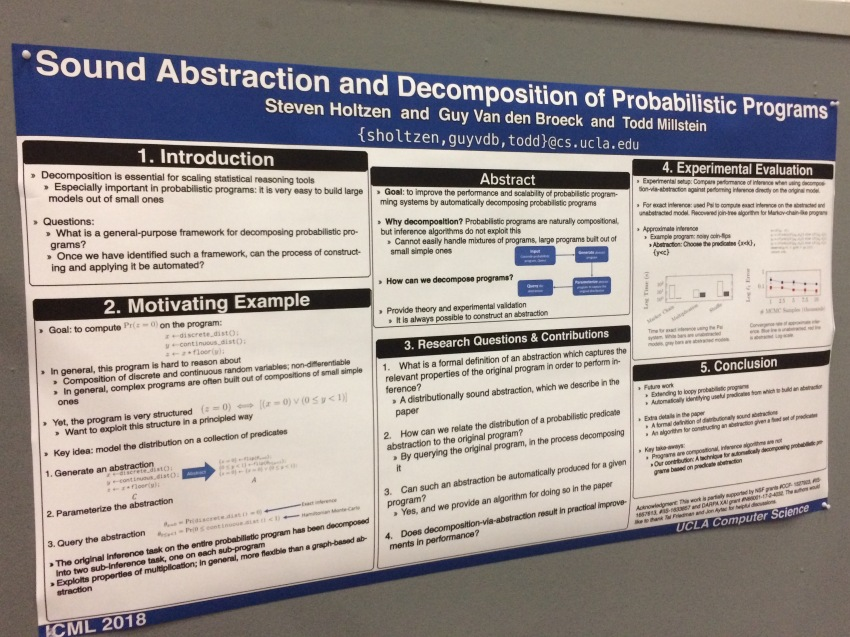 One of my favourite posters, presented as part of the ICML conference
