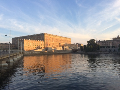 Walking back home past the palace in Stockholm