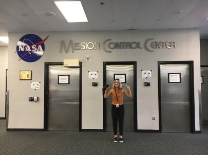Outside NASA Mission Control Centre