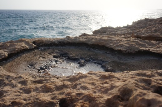 Formation of salt wells on the Mediterranean shore