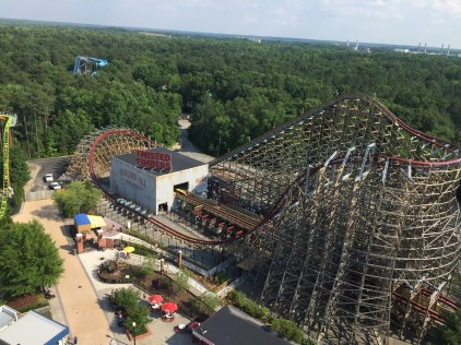 Doesn't look as scary as the ride was, huh… there were so many twists that it was crazy, Kings Dominion, Virginia