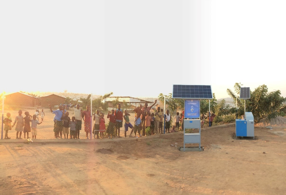 Rwanda- Installation of Solar powered infrastructure in Mahama refugee camp
