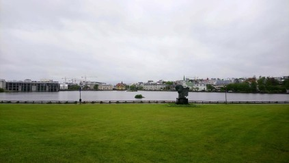 View of central area and city hall, Reykjavik