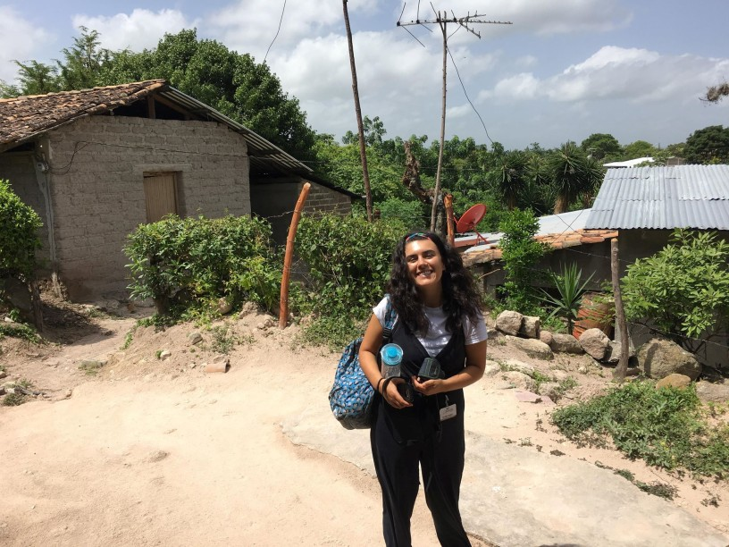 Me in one of the communities prior to a legal consultation with a client from one of the clinics