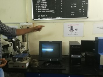 Lab Equipment shown during the Lab Sessions.