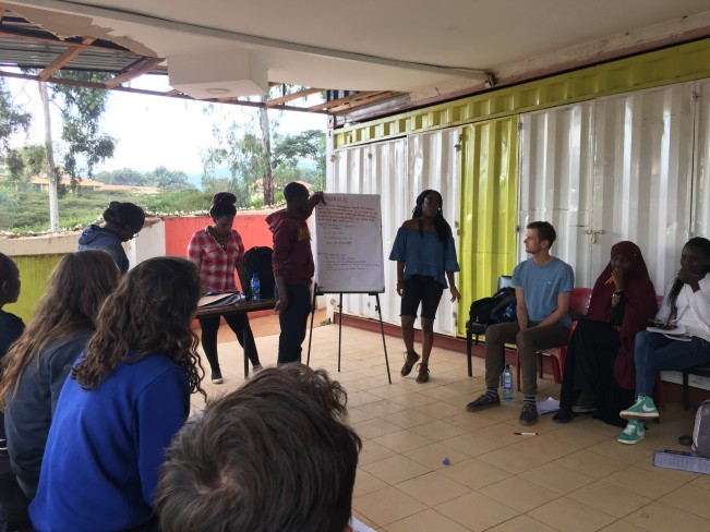 Volunteers participating in group discussion during an Active Citizenship Day I facilitated on the topic of HIV/AIDS.