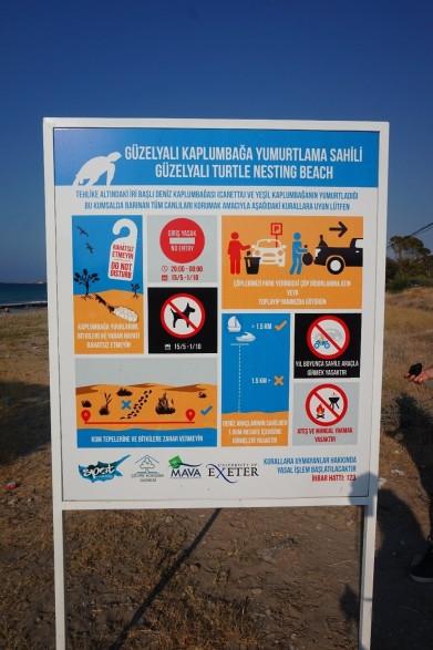 5. An information board on the Guzelyali Beach