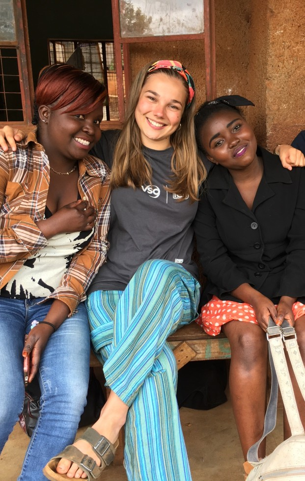Trisha and Rozie, some friends I made at a Community Action Day in Kangundo