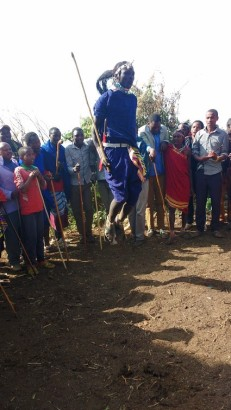 We made friends in the community, and got invited to a Maasai wedding, where the warriors compete to see who can jump the highest…