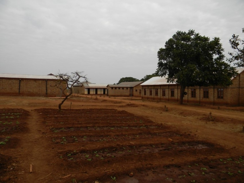School garden at Oswe Boys Secondary School