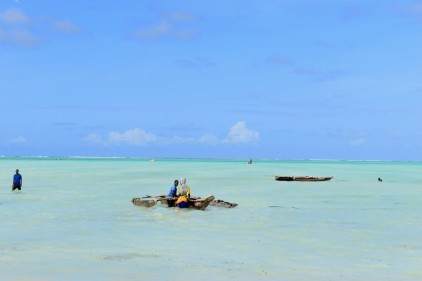 Post- Project visit to Zanzibar. Traditional fishing boats seen in Paje