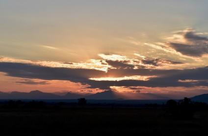 Sunset in Mikumi National Park