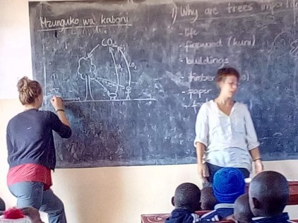 We taught at both primary and secondary schools. At primary schools we needed the help of a translater because the children did not know English yet.