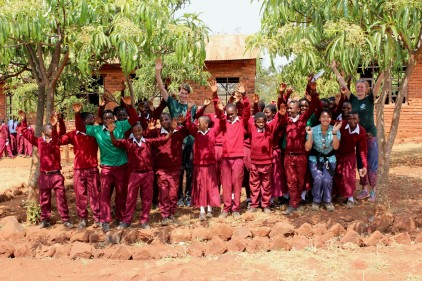 All smiles after our Environmental Lesson at Ipunga Secondary School