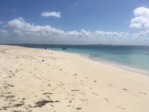 white sand in mbudja island
