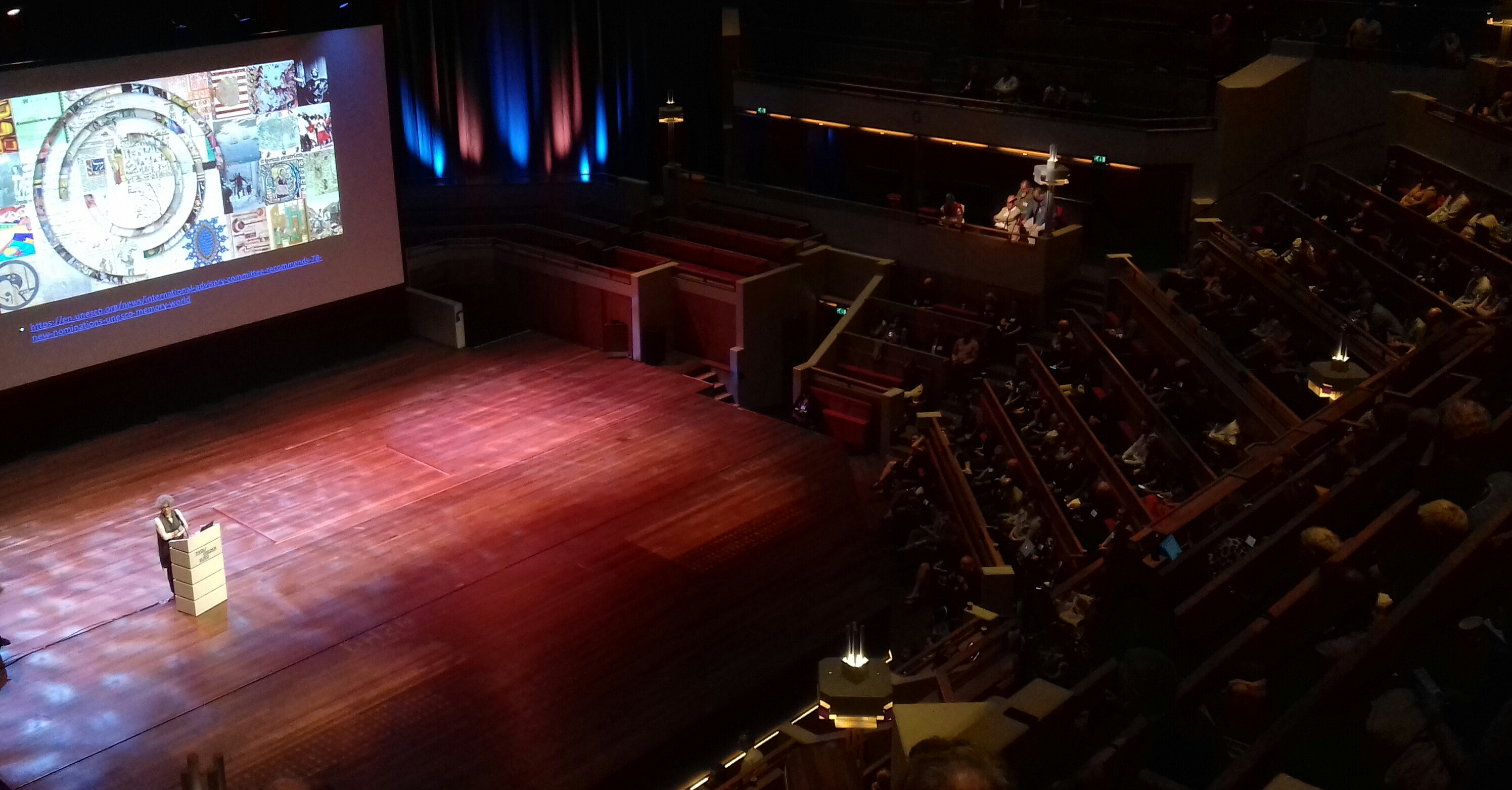 One of the plenary talks. The venue was pretty impressive.